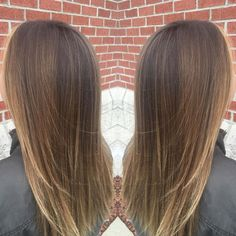 Image result for dark brown hair with blonde highlights straight hair