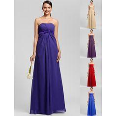 Floor-length+Chiffon+Bridesmaid+Dress+-+Regency+/+Royal+Blue+/+Ruby+/+Champagne+/+Grape+Plus+Sizes+/+Petite+Sheath/Column+Strapless+–+USD+$+79.99