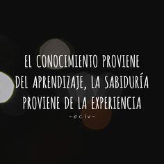 Conocimiento + Sabiduría = Éxito!  #Frases #Hoy #Empatiaclvida
