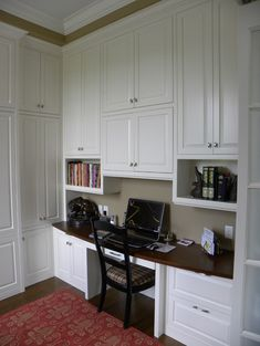 Home Office Built-in Desk Design, Pictures, Remodel, Decor and Ideas - page 72