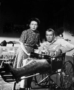 "Jimmy Stewart and Thelma Ritter in ""Rear Window"" 1954"