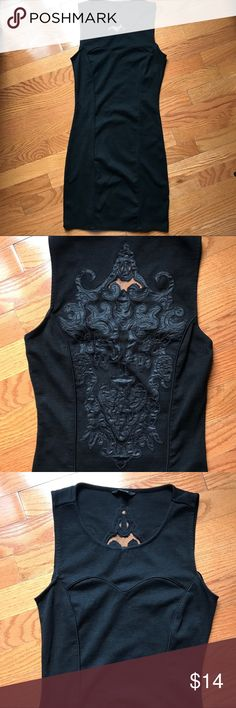 Guess little black dress sleevless size s Prefect fitted  little black dress..Beautiful scroll detail on the back. Round neck with sweetheart detail.. Guess Dresses
