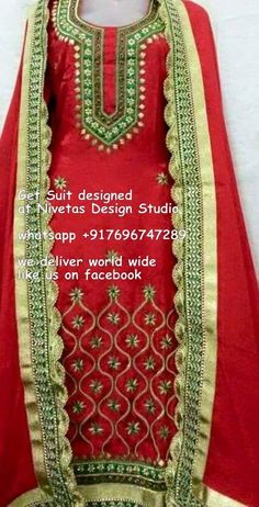 whatsapp +917696747289 punjabi suit -  punjabi suits - suits- chooridar suit - Patiala Suit - patiala salwar suits @nivetas Haute spot for Indian Outfits. Indian fashion meets bespoke Indian couture.  We now ship world wide