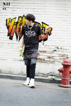 Kang Seungyoon of 'WINNER' for the 2014 summer collection for NII Korea.