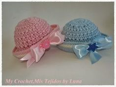 My Crochet , Mis Tejidos: Sailor Newborn Hats and pattern Crochet Cap, Baby Afghan Crochet, Crochet Baby Hats, Crochet Beanie, Crochet For Kids, Baby Knitting, Free Crochet, Baby Patterns, Knitting Patterns