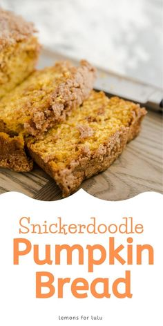 Soft, tender pumpkin bread has a ribbon of cinnamon running throughout and then coated in a crumbly cinnamon topping. This pumpkin bread recipe is a family favorite! It never disappoints! You are going to love the aroma that fills your house while it is baking! Easy Meals For Kids, Kids Meals, Yummy Snacks, Yummy Food, Dinner Recipes, Dessert Recipes, Pumpkin Bread, Everyday Food, Bread Recipes