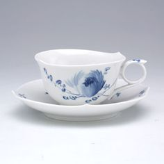 Meissen Blue Flower Teacup and Saucer