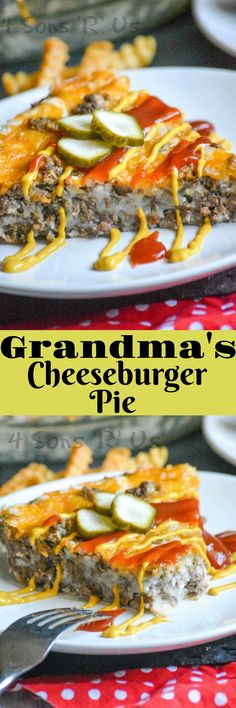 Need a quick & easy, one dish dinner? Grandma's Easy Cheeseburger Pie is just the thing. Each bite is like biting into the juicy burger you're craving, without any of the work involved in fixin' the real deal.