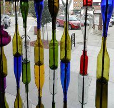 Market Alley Wine window NEW October 2013:  Wine bottle wall
