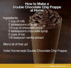 How to make a double chocolate chip frappe