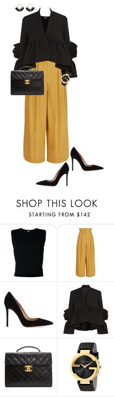 """9 to 5"" by ccoss on Polyvore featuring Rito, Sonia Rykiel, Gianvito Rossi, Rachel Comey, Chanel, Gucci and Rebecca Minkoff"