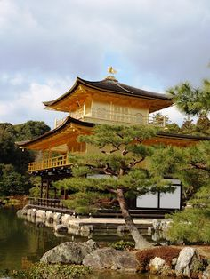 Kinkakuji Temple  Kyoto, Japan.  Love this one. The grounds are quiet & sureen.