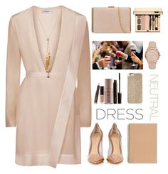 """Party On:Long Sleeve Dresses"" by dianakhuzatyan ❤ liked on Polyvore featuring Gianvito Rossi, Burberry, Chloé, Laura Mercier, Michael Kors, longsleeve and polyvoreeditorial"