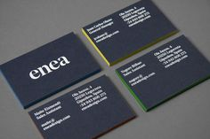 New logo for enea by clase bcn - bp&o business cards визитки Corporate Design, Corporate Identity, Identity Design, Visual Identity, Brand Identity, Minimal Web Design, Bussiness Card, Print Finishes, Graphic Design Projects