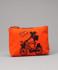 #Orange #Bicycle #Cosmetics #Bag from #IZAK on #zulily