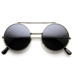 09a74302c0 zeroUV Limited Edition Color Flip Up Lens Round Circle Django Sunglasses   fashion  sunglasses Flip