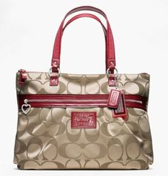 Coach Daisy Signature Tote Glam Handbag Purse « Better product Adds for any home
