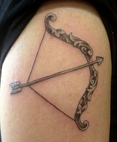 unique bow and arrow tattoos |