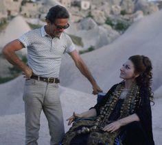 Pier Paolo Pasolini and Maria Callas on the set of Medea