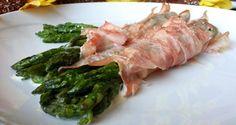 Involtini di asparagi, prosciutto cotto e fontina