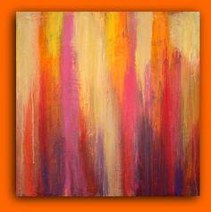Abstract Acrylic Art Original Painting Textured by OraBirenbaumArt