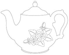 TEAPOT...would be really cute on kitchen items in lots of