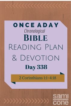 Once A Day Bible Reading Plan & Devotion Day 338