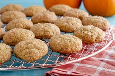 These soft Pumpkin Spice Cookies are filled with pumpkin flavor and a hint of cinnamon, nutmeg, and vanilla. Pumpkin Spice Cookies, Pumpkin Spice Coffee, Paleo Cookies, Spiced Coffee, Beyond Diet Recipes, Drop Cookies, Cookies Et Biscuits, Pumpkin Recipes, Vegan Desserts