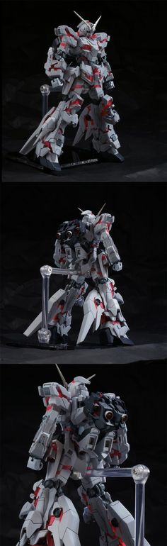 1/144 RX-0 Unicorn Gundam with Fin Funnels Custom Build - Gundam Kits Collection News and Reviews