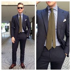 "Via beckettrobb: ""B&R x Huddersfield Pinstripe Suit"""