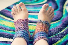 Funkilicious Yoga Sock Pattern   Why do you need a crocheted yoga sock? Um... because you just do!!! That's why. They look really cute ...