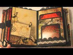 STEAMPUNK BOTANICA vintage mini album Love this paper pack!