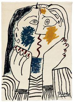 Le baiser, tapis signé Picasso - Tapis : l'art à l'horizontal - CôtéMaison.fr