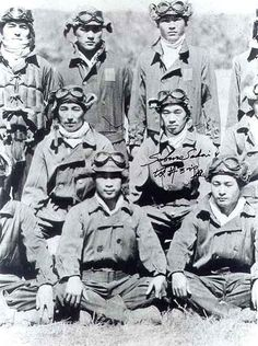 This is a picture of the greatest Japanese Fighter Squadron in WWII.  While stationed on Rabaul - Tainan Kokutai - Hiroyoshi Nishizawa, Ota, Saburo Sakai (seated to the right of Ota)