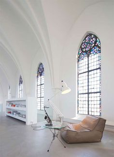 1870's Gothic Church renovated into a beautiful home. Love.