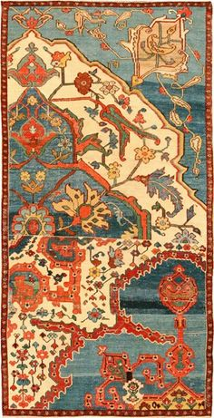 antique_oriental_persian_bakshaish_rug_Nazmiyal1.jpg (297×581)