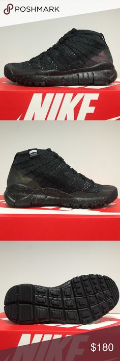 Womens Nike Flyknit TRNR Chukka FSB New with box. Black/Black Anthracite Nike Shoes Sneakers