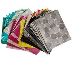 Each handmade paper is screen printed with graphic and colorful patterns for all kinds of decorative uses!