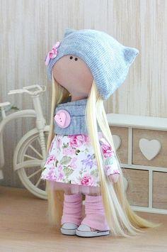 Tilda Textile Rag Doll Мягкий игрушечный компаньон для коллекционирования