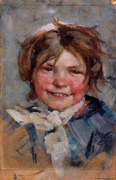 """Laughing Girl"" (1883) | Maria Wiik"