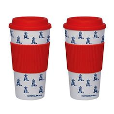 Los Angeles Angels of Anaheim 16oz Travel Tumbler Set