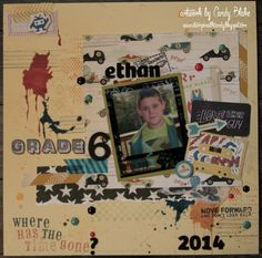 Grade 6 already?? layout - Scrapbook.com