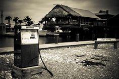 Coco Marina, Cocodrie Louisiana, Black and White Photography - Fine Art Print