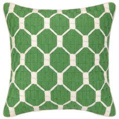 Trina Turk Montebello Avocado Bargello Pillow @Zinc_Door