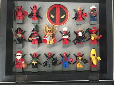 Deadpool is great!  All variations of deadpool made from 100% genuine LEGO parts and Minifigures