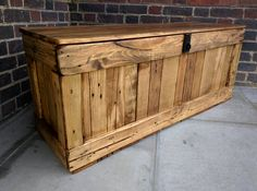 Rustic Storage Bench Handcrafted Reclaimed wood Seating by TimberWolfFurniture on Etsy