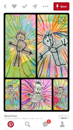 Newspaper Art For Kids Classroom 62 Best Ideas Kindergarten Art, Preschool Art, Kindergarten Self Portraits, Preschool Family, Journal D'art, Arte Elemental, Classe D'art, Newspaper Art, Process Art