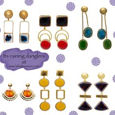 Its raining danglers! Shop amongst a wide range of beautiful ceramic jewels now at www.labelmansion.com #labelmansion #jewellery #danglers #shoponline #earrings #ceramic #statement #saturday #india
