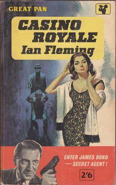 Ian Fleming - 'Casino Royale' (1953)...Great Pan paperback (pulp fiction cover art)