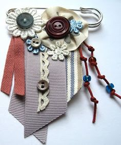 diy kilt pin brooch....I just love these talented pinners....